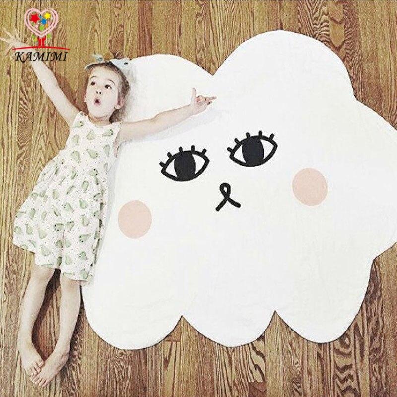 e225d86156d1 Baby Floor Mats Blanket White Cloud Style Face Kids Sleeping Carpet Blankets  Bedding Children S Room