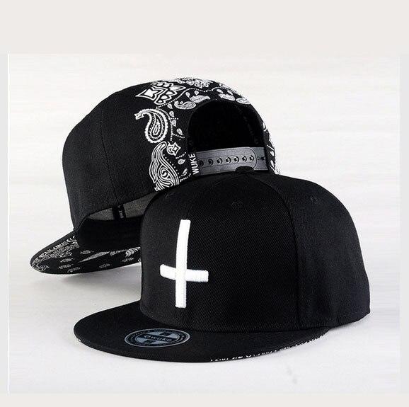 Black Flat hip hop caps for men baseball caps NEW Fashion Unisex women Snapback Adjustable cool  cross sport snapback caps