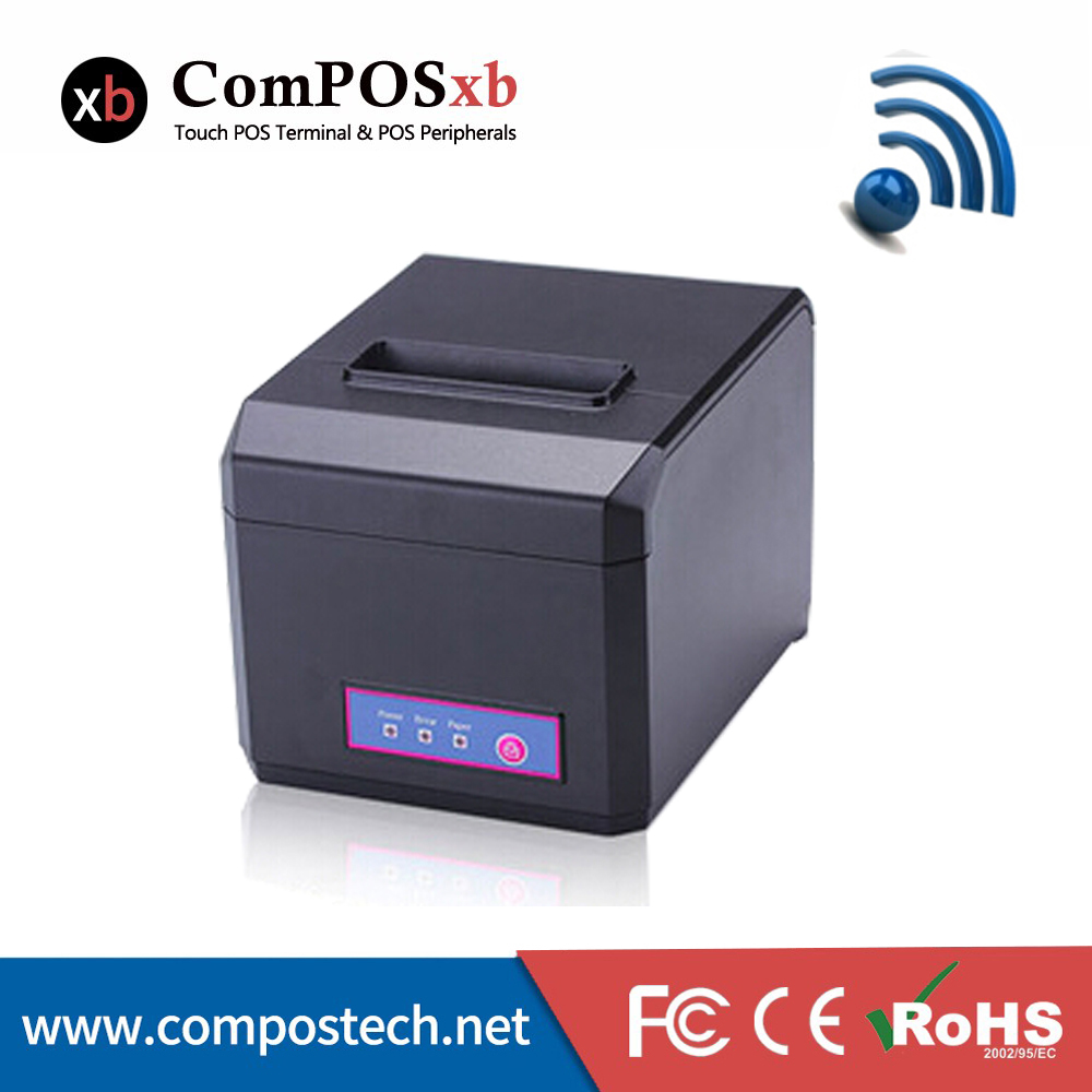 Fashional Printer 80mm Thermal Receipt Printer 1D/2D With Lan+USB+Wifi POSEH80300 With Auto Cutter mqtt could printing solution gprs 2 inch thermal receipt printer with usb lan port support win10 and linux auto cutter