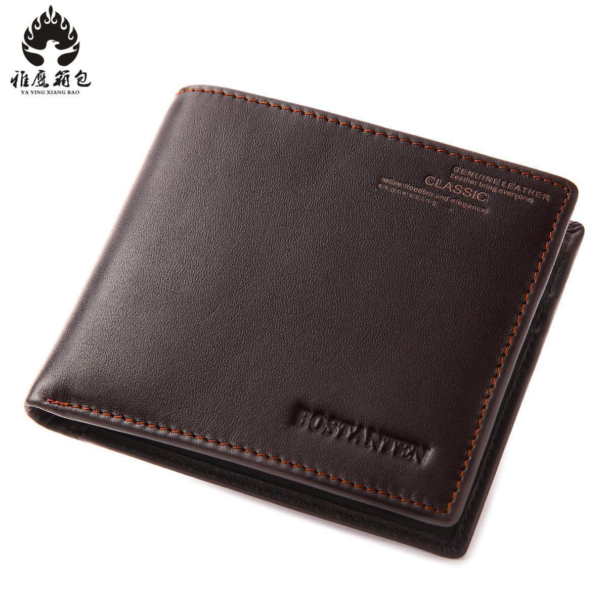Genuine Leather Men Wallets And Purses Coin Purse Man Famous Small Short Portomonee Mini Male Purses Card Holder Walet baellerry top pu leather men wallets and purses coin purse man famous small short portomonee mini male purses card holder walet