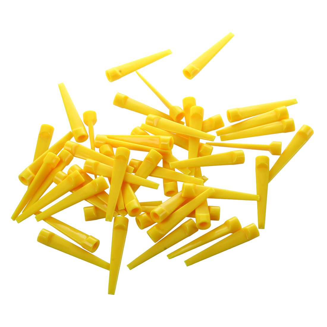 50pcs Plastic Golf Tee Tees (Yellow)