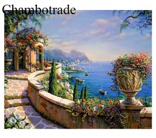 DIY By Numbers Abstract The Mediterranean Sea Photo Modern Home Decor Pictures On Canvas Kits Drawing Coloring Modular