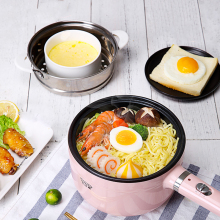 лучшая цена Electric Cooker Heating Pan Electric Cooking Pot Multifunctional Machine Hotpot Noodles Rice Eggs Soup Steamer Cooking Pot 220v