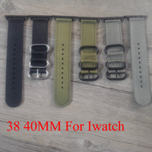 Canvas  Nylon Sport  38MM 42MM Apple WatchBand,  Iwatch Strap Bracelet ,With Apple Watch Adapter,Free Shiping