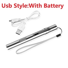 YTE USB Rechargeable or battery LED Flashlight High-quality Powerful Mini LED Torch XML Design Pen Hanging With Metal Clip