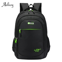 Aelicy Mens Backpack Black Classic Laptop Outdoor Travel Backpack For Boy Computer Bag Large Capacity Student Backpack Male 605 Backpacks     -