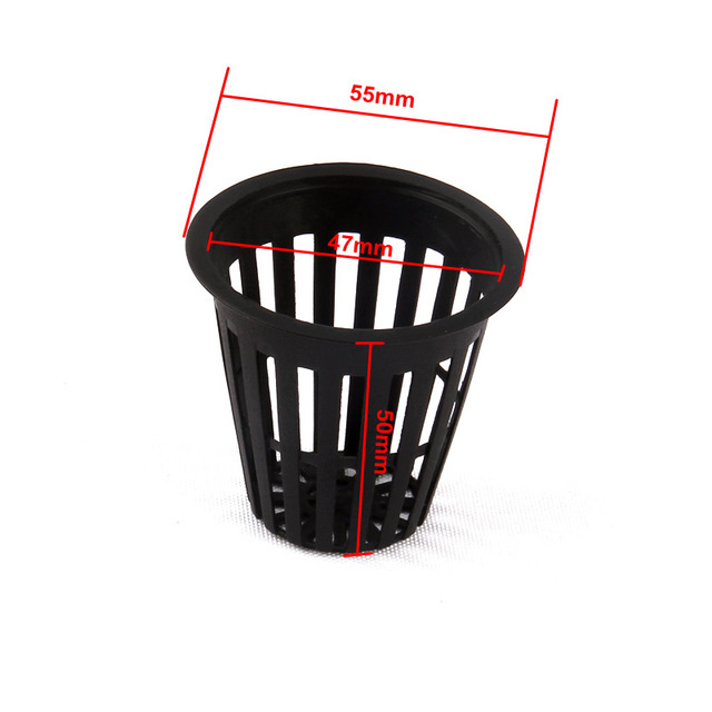 20pcs Dia47mm Hydroponics Cup Net Pot Aeroponic Basket Organic Vegetable Grow Mesh Pot Clone Pot Seedling