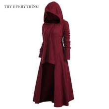 Long Black Gothic Dress Women Hooded Punk Clothing Style Long Sleeve Plus Size Knitted Dresses For Women Summer 2019 3XL 4XL 5XL