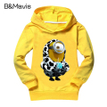 Unisex Minions T Shirt Casual Baby Girls Clothes Hooded Despicable Me Sweatshirts Children Clothing Boys T-Shirts Costume