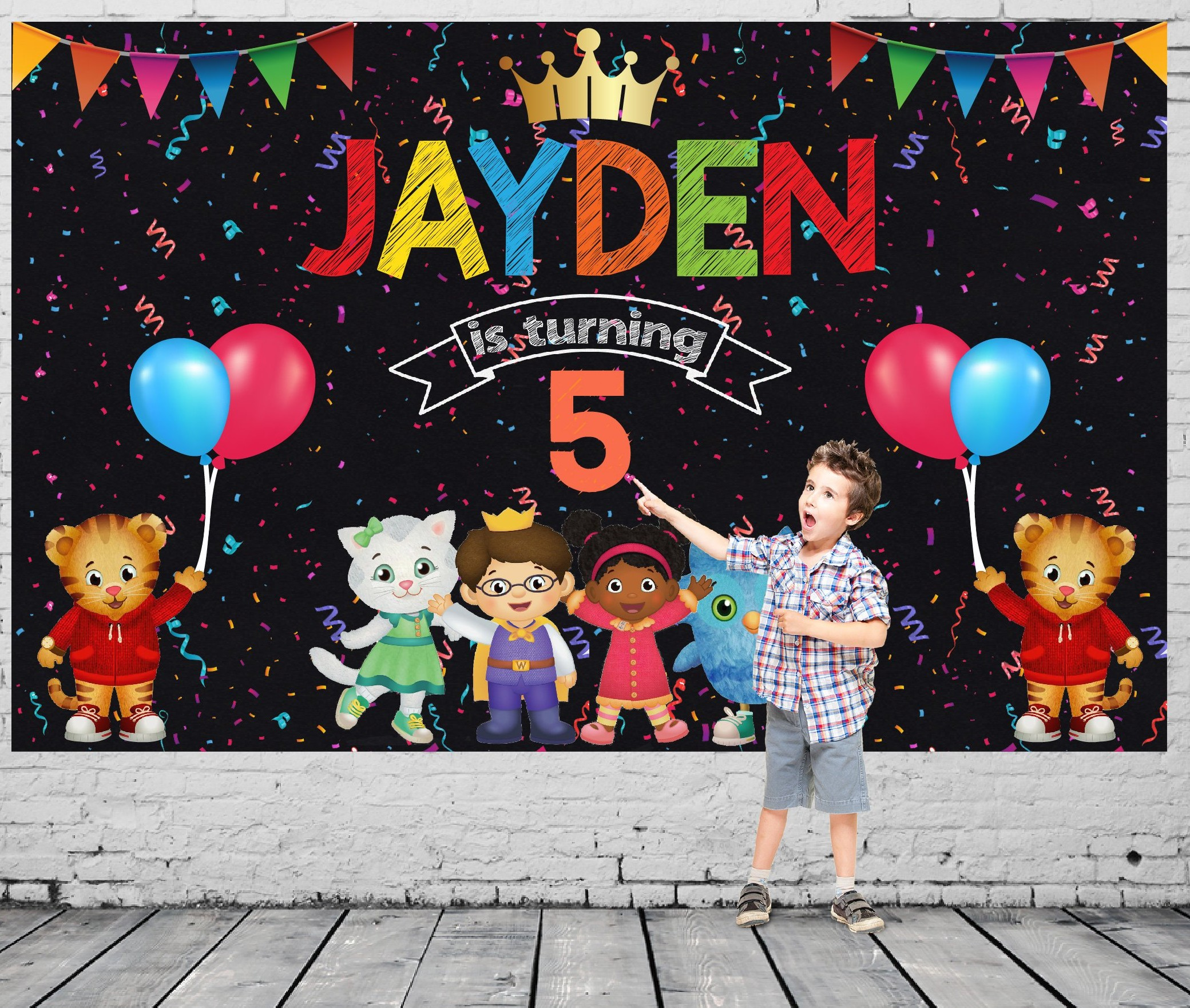 Custom Daniel Tiger Baby Shower Party photography backgrounds High quality Computer print birthday backdrops
