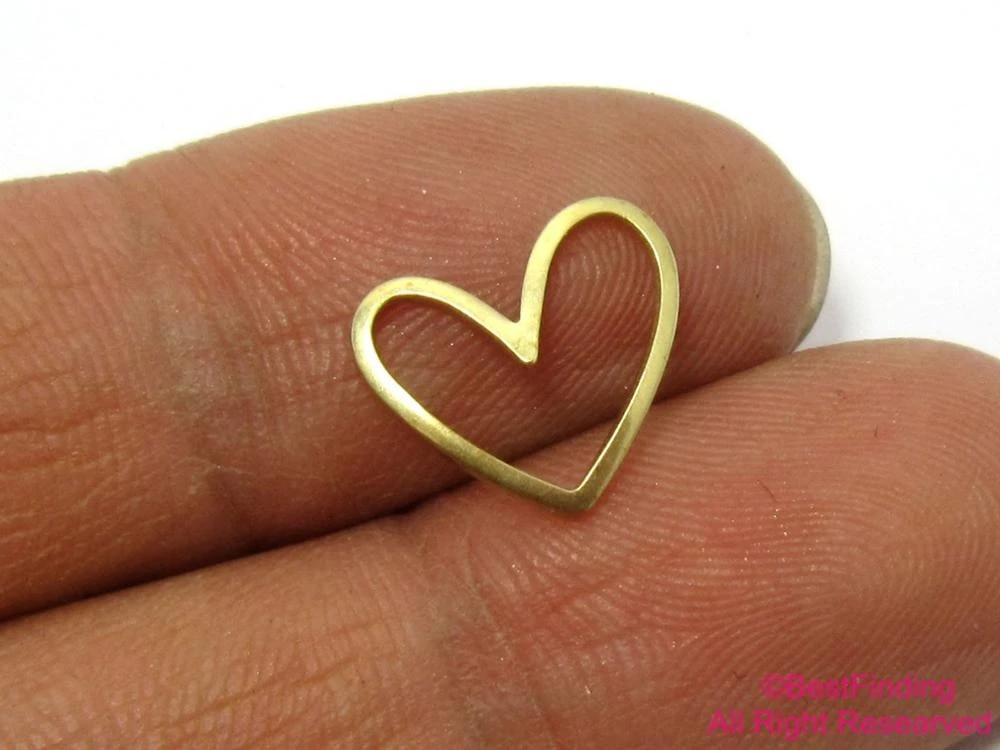 0.4 x 12 x 14 mm 1 Hole Raw Brass Tiny Rhombus Charms