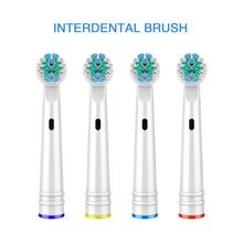 4PCS Electric Teeth Brush Heads Soft Bristled Interdental Replacement Dental Floss For Oral B 3D Clean CW31