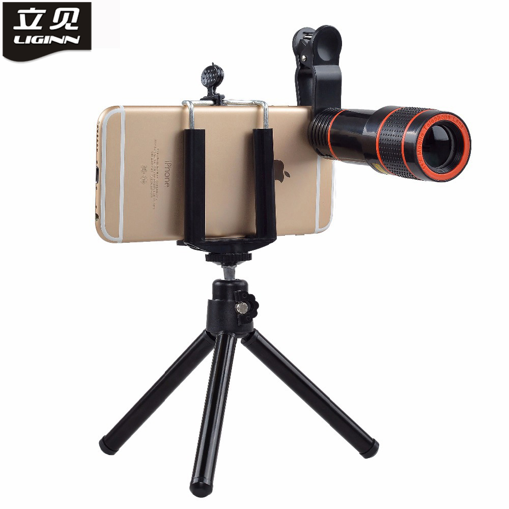 Mobile Phone Telephoto Lens 12X Zoom Optical Telescope Camera Lens with Clips For iphone 5S 6S 7 8X All Phone No Dark Corner