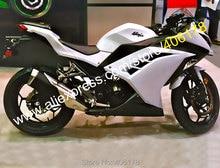 Sıcak Satış, Ninja 300 Için Kawasaki Ninja 300R EX300 2013 2014 2015 2016 EX 300 ABS Beyaz Siyah Fairing kitleri (enjeksiyon)