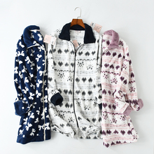 Women's Sleepwear Winter Long Sleeves Warm Flannel pyjamas women Women Sleep Tops Pijamas Mujer
