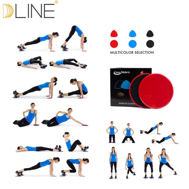 Gliding Disc Core Slider Training  Yoga Massage Plate Fitness Exercise Workout