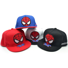 цены Child hat 3D cartoon Embroidery Spiderman Baseball Cap Summer Sun Hat Boys Girls Hip Hop snapback Caps
