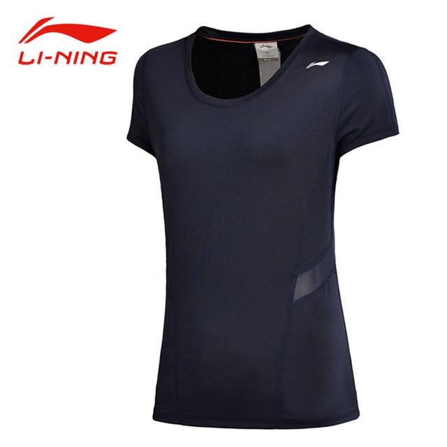 US $24 99 |Li Ning Women Summer Cool Running T shirts Breathable Back  Design O Neck Short Sleeve Tees LiNing Comfort Sports Tops ATSM196-in  Running