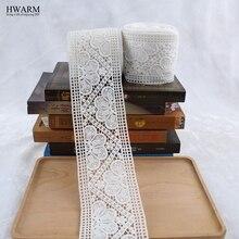10.4 ซม.ผ้าลูกไม้ตกแต่งตกแต่งเสื้อผ้าลูกไม้ที่ละลายน้ำได้ผ้าม่านเย็บปักถักร้อย lacefabric DIY คุณภาพสูง laces