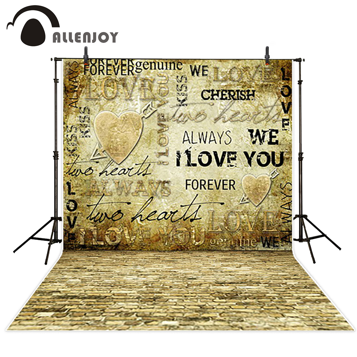 Allenjoy vinyl backdrops for photography customize vintage Romantic love photocall studio background excluding stand