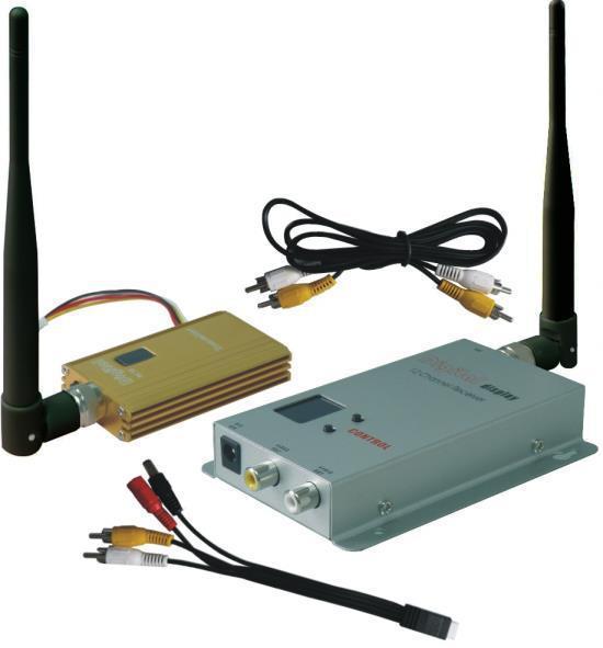 FPV OK 0.9 GHz 1500 MW FPV sistema transmisor y receptor 900 MHz AV Link inalámbrico CCTV 0.9 GHz TX RX Set