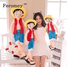 Poupée en peluche Luffy en coton, dessin animé japonais, poupée géante en peluche, dessin animé japonais, cadeau danniversaire pour enfants, modèle, jouet