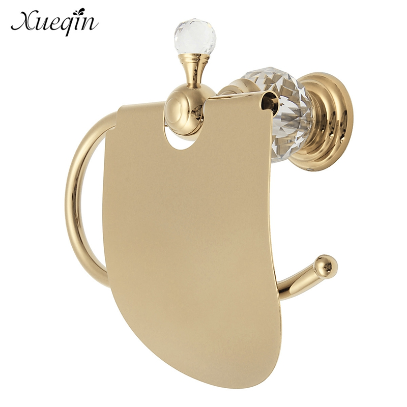 4 Color Crystal Brass Bathroom Toilet Roll Paper Box Holder Gold Toilet Paper Holder Paper Holder Tissue Box new kitchen paper holder bathroom tissue box waterproof brass toilet paper box toilet paper box toilet paper roll holder