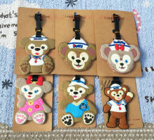 6 pcs/lot Duffy Beruang bagasi tag Anime Shelliemay Bear PVC tas liontin Pecinta fashion koper dekorasi gratis pengiriman(China)
