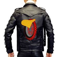 Winged Wheel large Embroidered punk biker Patches Clothes Stickers Apparel Accessories Badge