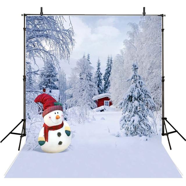 koop sneeuwpop fotografieachtergrond kerst vinyl achtergrond voor fotografie. Black Bedroom Furniture Sets. Home Design Ideas
