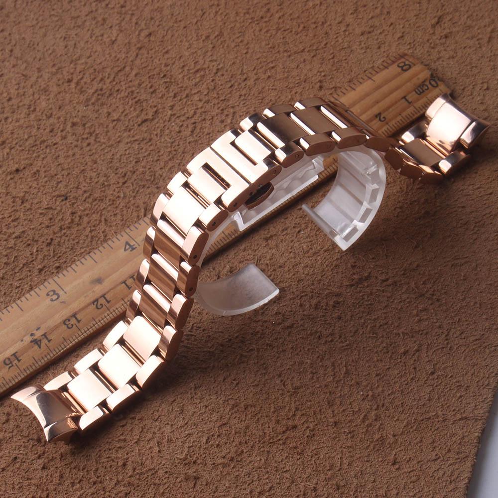 Bande d'acier inoxydable de largeur de 20mm 22mm pour la montre de galaxie de Samsung bracelet de bracelet de montre de 42mm 46mm extrémité incurvée par métal courroie solide de libération
