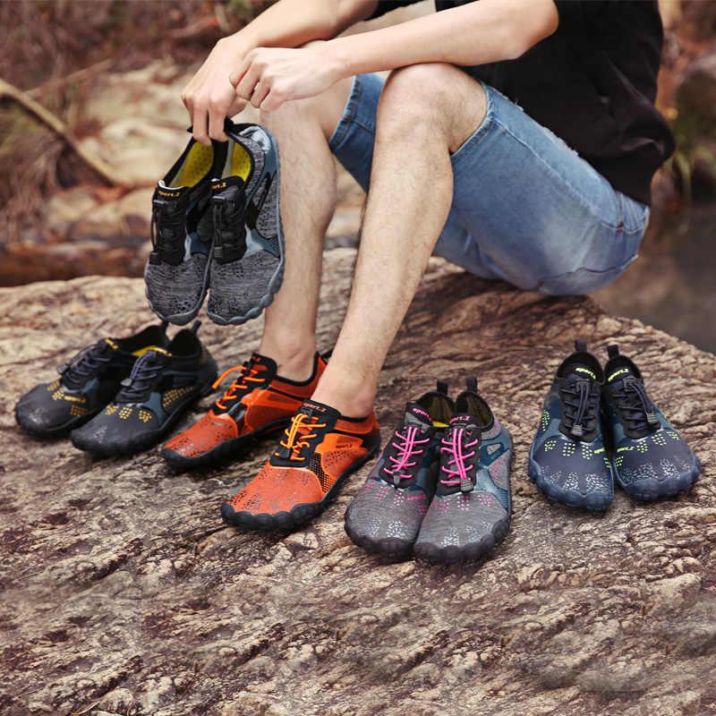Zomer Water Schoenen Mannen Zwemmen Schoenen Aqua Strand Schoenen Grote Plus Size Sneaker voor Mannen Gestreepte Kleurrijke zapatos hombre