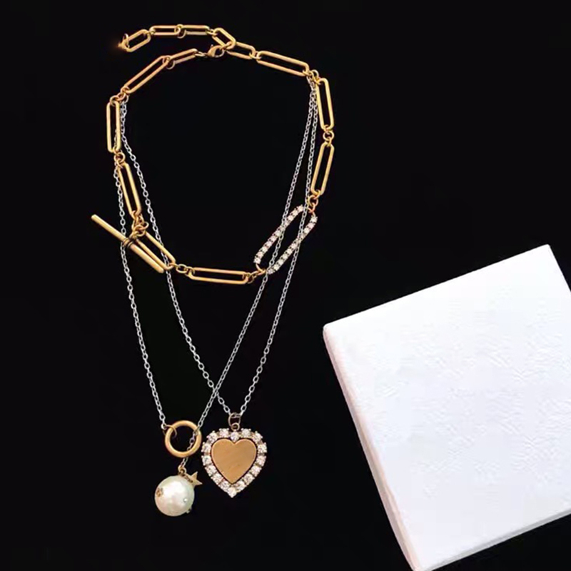 Hot Brand Vintage Copper Fashion Jewelry For Women Punk Many Chain Necklace Fashion Praty Jewelry Drop
