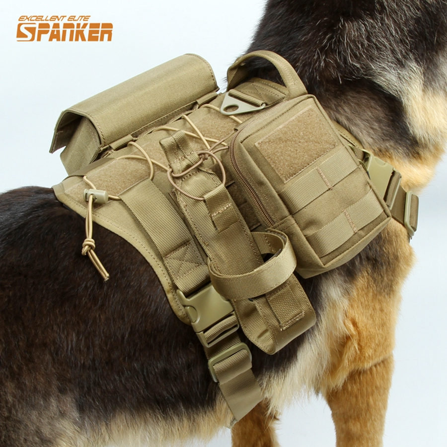 Tactical Patrol Dog Harness Vest Suit Load Bearing Law Enforcement Hunting Dog Clothes Gear