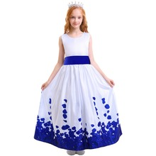 Fashion New Girls Dress Kid Birthday Party Princess Petals Bow Tie Flower Girl Dress for Wedding Elegant Kids Dresses for Girls ircomll girls party dresses kids dress new flower design flower appliqued a line princess costume for girls wedding birthday