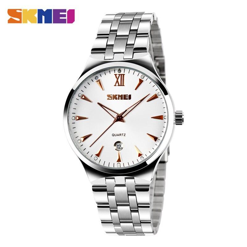 SKMEI Women Watch Quartz Men's Clock Couples Top Brand Luxury Female WristWatches Ladies Dress Water Resistant Relogio Feminino
