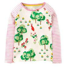 Girls Blusas Bobo Choses T-Shirt Long Sleeve 2017 Brand Autumn Winter Baby Girls Floral Kids Tops Children Roblox Moana Ninjago