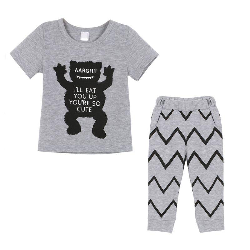Tops T-Shirt Long-Pants Toddler Baby-Girl Summer Soft Newborn Comfortable Boy