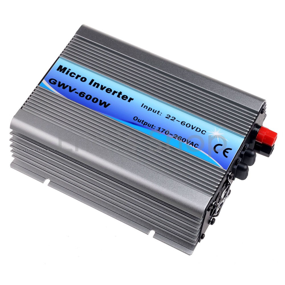 500W Grid Tie Inverter DC22V-60V to AC230V Pure Sine Wave Inverter 50/60Hz Auto with MPPT Function 24V/36V 60cells/72cells panel 500w micro grid tie inverter for solar home system mppt function grid tie power inverter 500w 22 60v