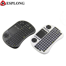 Portable Mini i8 Wireless Keyboard Handheld Air Mouse 2.4GHz Smart Remote Control with Touchpad for Android TV Box PC Pad Laptop