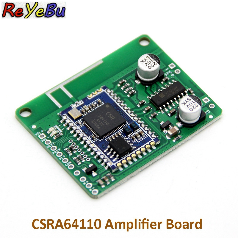 Bluetooth V4.2 CSRA64110 Mono Power Amplifier Board with Bootstrap Boost TWS Box 5W Speaker Audio AmplifierBluetooth V4.2 CSRA64110 Mono Power Amplifier Board with Bootstrap Boost TWS Box 5W Speaker Audio Amplifier