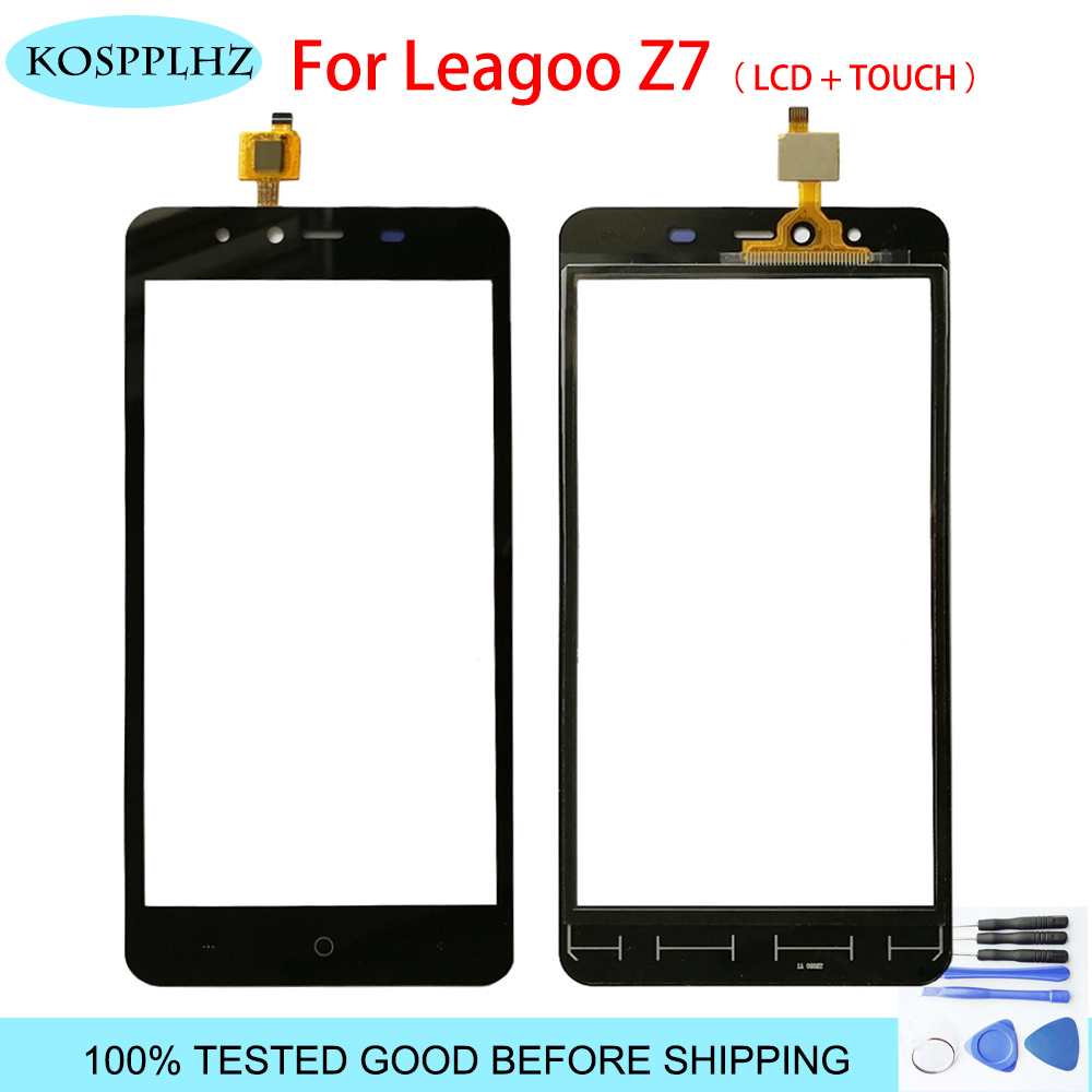 Touch Screen For Leagoo Z7 Touch Screen Touch Panel Lens Assembly 5.0 INCH 480x854p black color mobile phone + tools|Mobile Phone Touch Panel| |  - title=