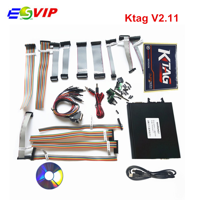 2016 Newest KTAG V2.11 K-TAG ECU Programming Tool Master Version V2.11KTAG K TAG ECU Chip Tunning DHL free shipping new version v2 13 ktag k tag firmware v6 070 ecu programming tool with unlimited token scanner for car diagnosis