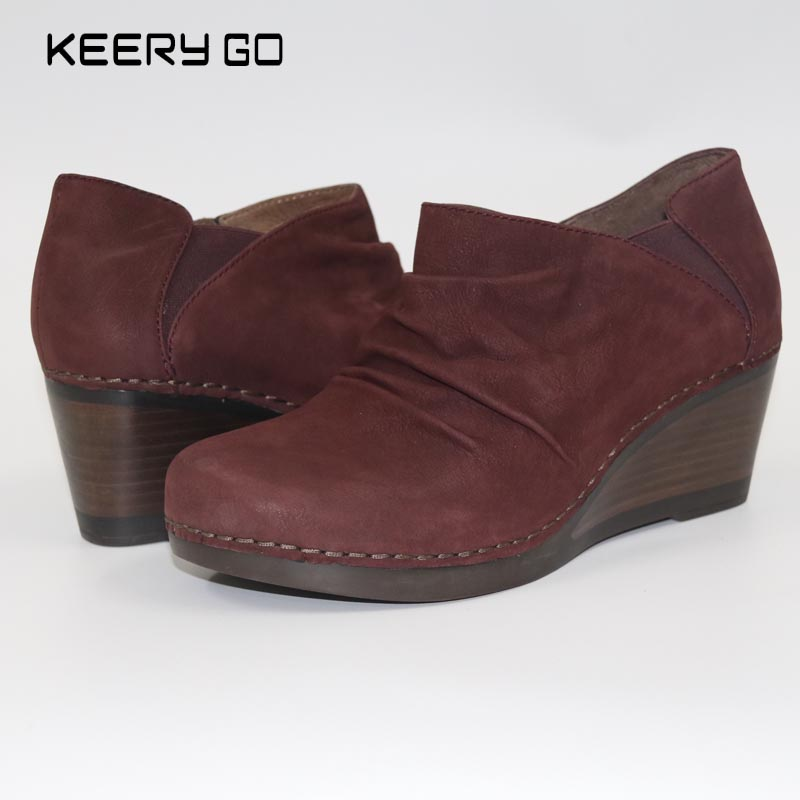 First layer of cowhide wedges women's shoes comfortable healthy shoes 36 - 42 catalog of teratogenic agents first edition