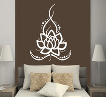 Removable Home Wall Stickers Vinyl Decals Yoga Lotus Indian Buddha Mural Room CW-38