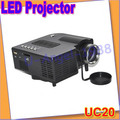 Gift Idea UC20 HD Mini Portable Multimedia LED Projector Home Theater DVD USB SD Speaker+free shipping