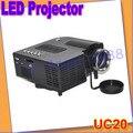 Idea de regalos UC20 HD Mini Portable LED proyector Multimedia Home Theater DVD USB SD del altavoz + envío libre