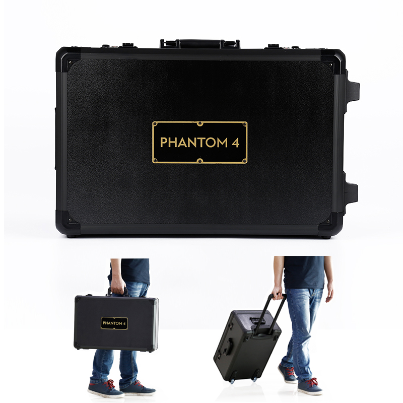 DJI Phantom 4 Carry Case with Trolley Portable Aluminum Outdoor Protective Carrying Hard Portable Case with