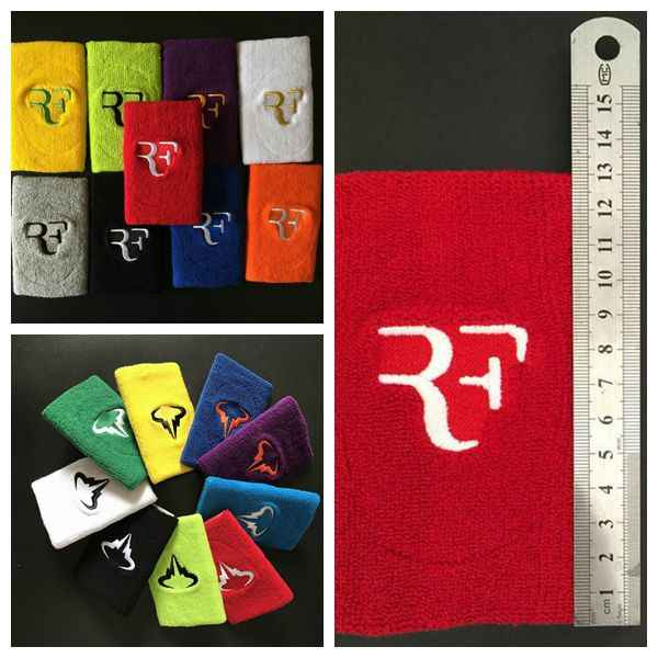 1pc Retail Roger Federer Nadal Wristband for tennis racket,tennis racquet basketball wristband,sports badminton wristband