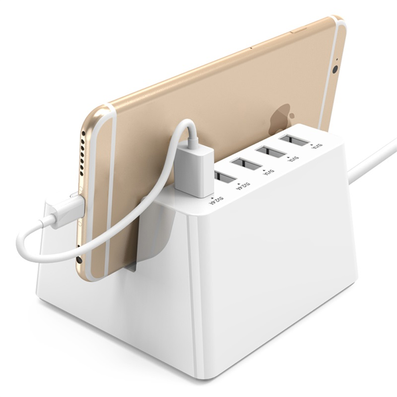 Купить с кэшбэком ORICO Power Strip Smart Socket Charging Desktop Charger with 2 AC Outlets and 5 USB Ports for Phones,Tablets and Desktops(ODC)